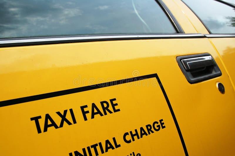 车费出租汽车黄色 库存图片