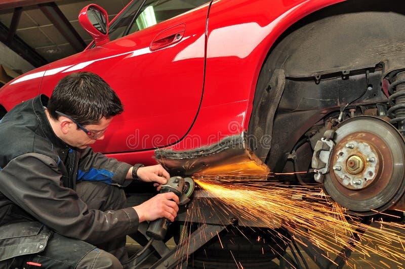 车身修理。 免版税库存图片