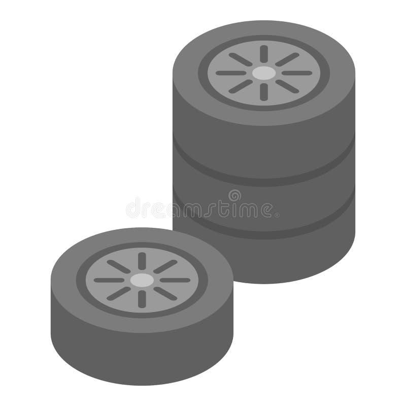 车轮堆象,等量样式 库存例证