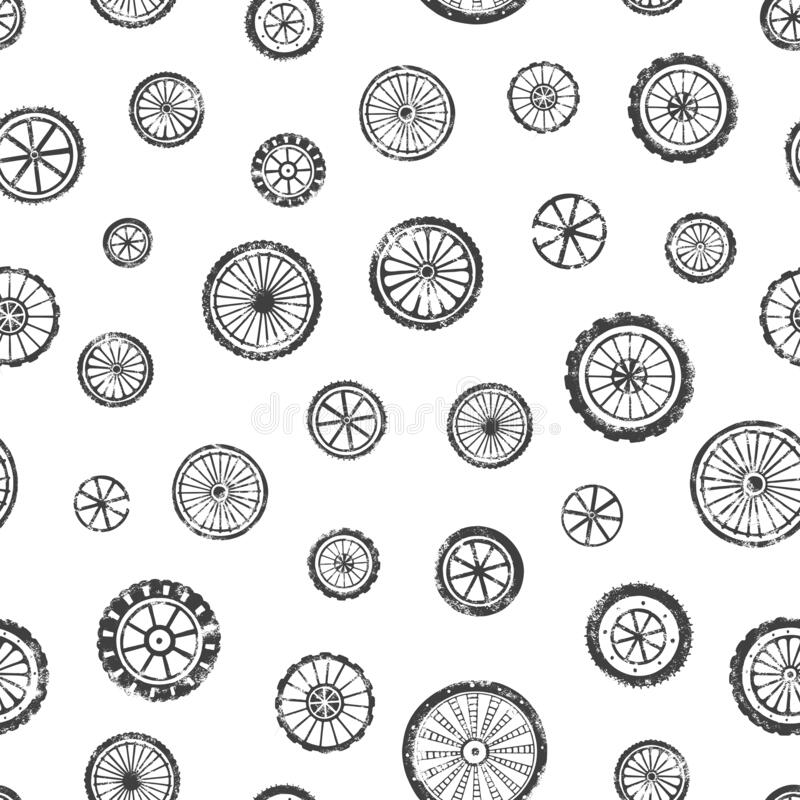 车轮无缝图案 向量例证