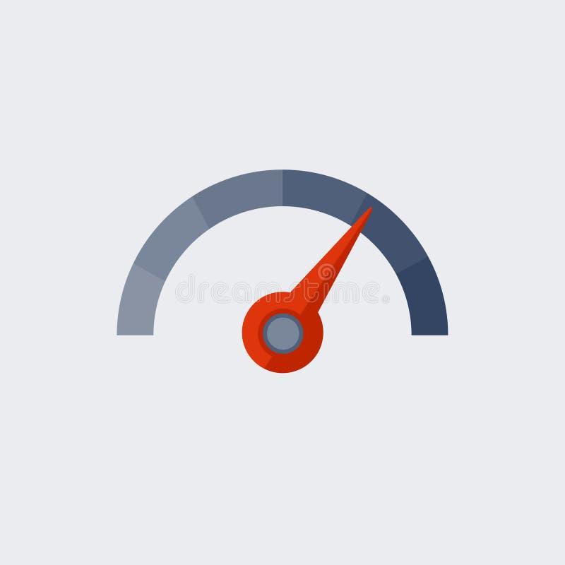 车速表与平的设计的传染媒介象 库存例证