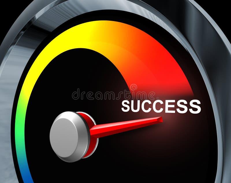 车速表成功 向量例证