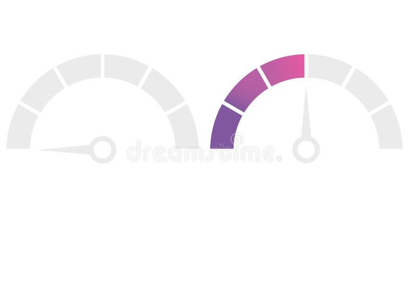 车速表车头表显示象 性能测量 o r 向量例证