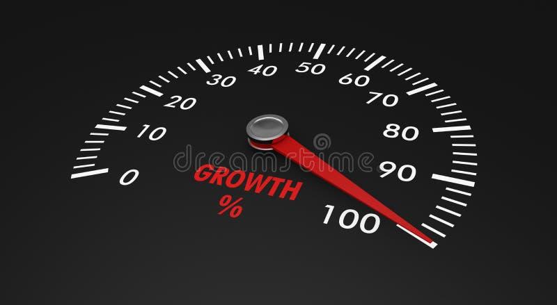 车速表-增长级别 向量例证