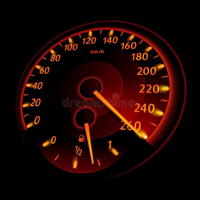 车速表 库存例证