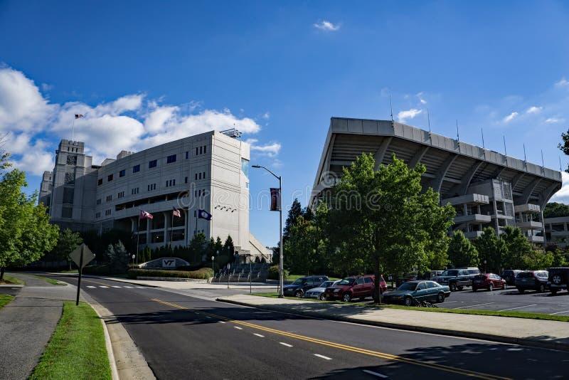 车道体育场,黑堡,弗吉尼亚,美国 免版税库存图片