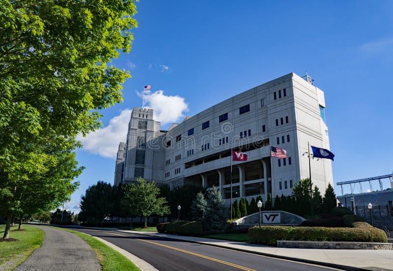 车道体育场,黑堡,弗吉尼亚,美国 免版税库存照片