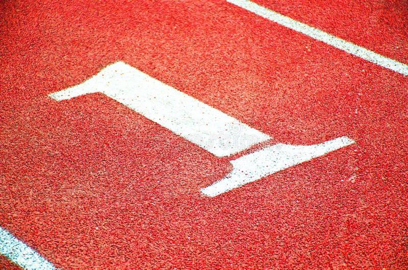 #1车道标记 免版税图库摄影