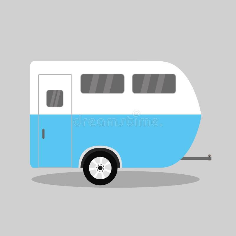 车露营者货车 被隔绝的有蓬卡车 向量例证