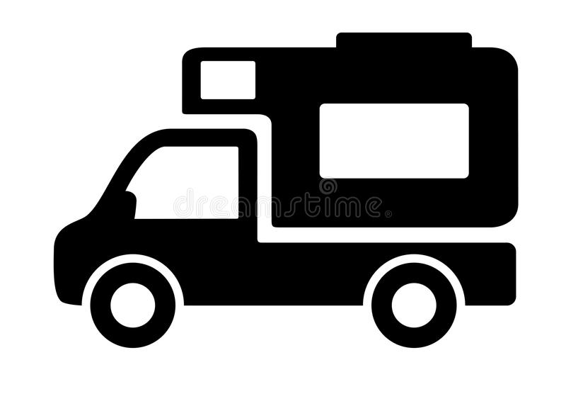 车露营者货车有蓬卡车象 皇族释放例证