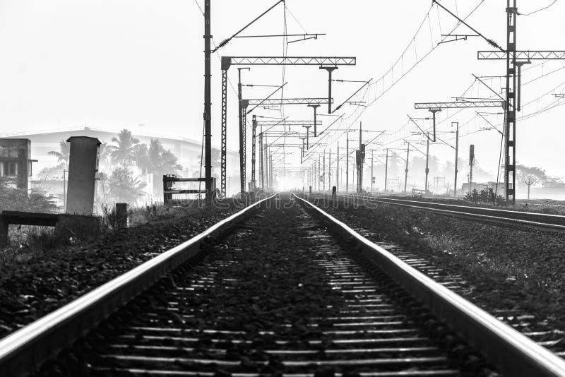 轨道有许多旅行故事 库存照片
