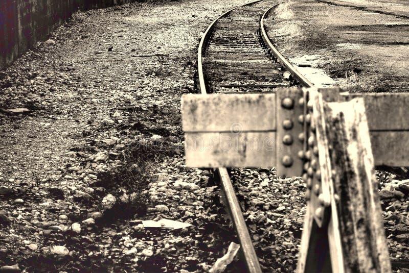 轨道的末端 免版税库存照片