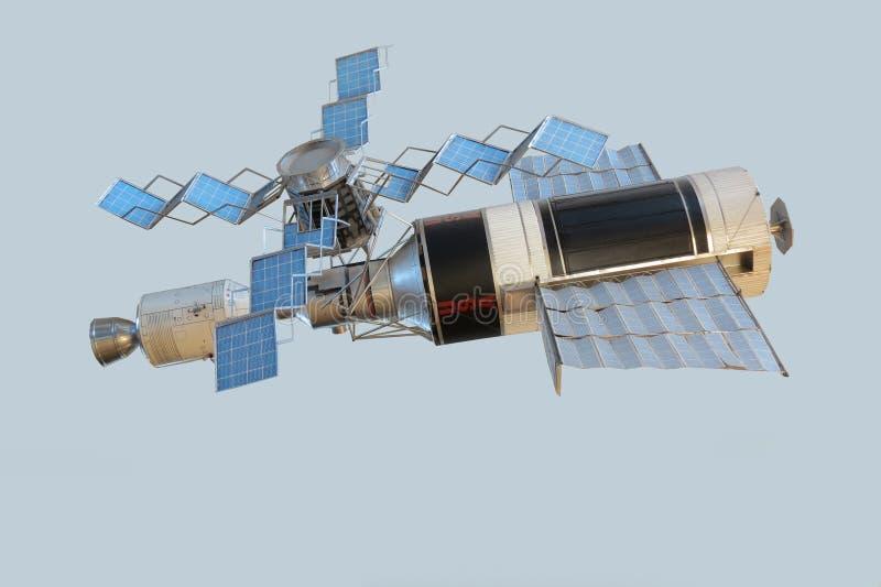 轨道航天站太空实验室模型  图库摄影
