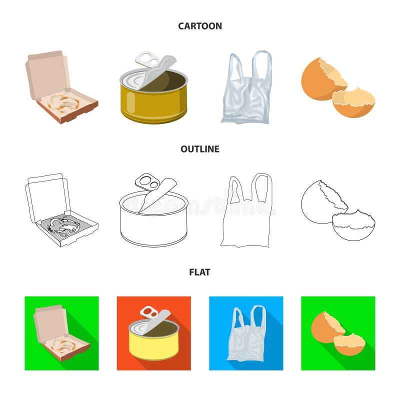 转储和排序商标传染媒介设计  转储和破烂物储蓄传染媒介例证的汇集 皇族释放例证