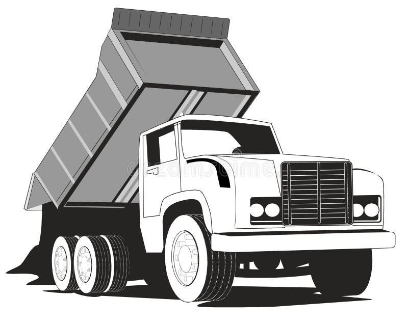转储简单的卡车 库存例证