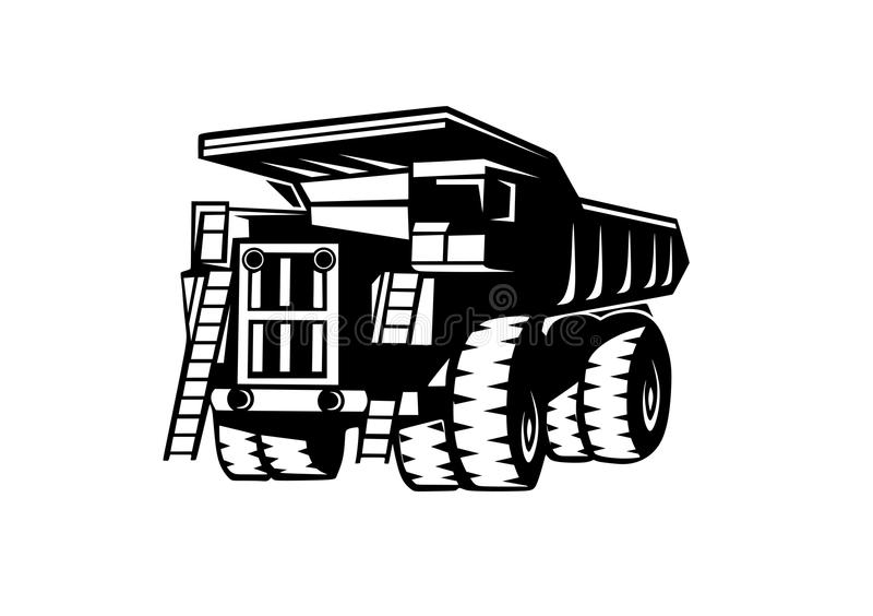 转储truckBelAZ 向量例证