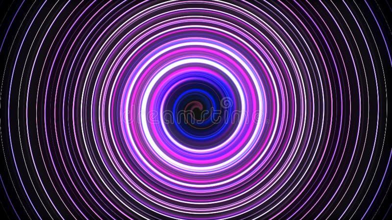 转动和扭转线,计算机生成的背景, 3D的抽象螺旋回报背景 皇族释放例证