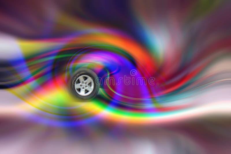转动的轮子 免版税库存图片