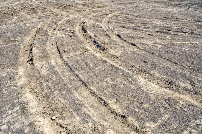 转动的轮胎轨道 图库摄影