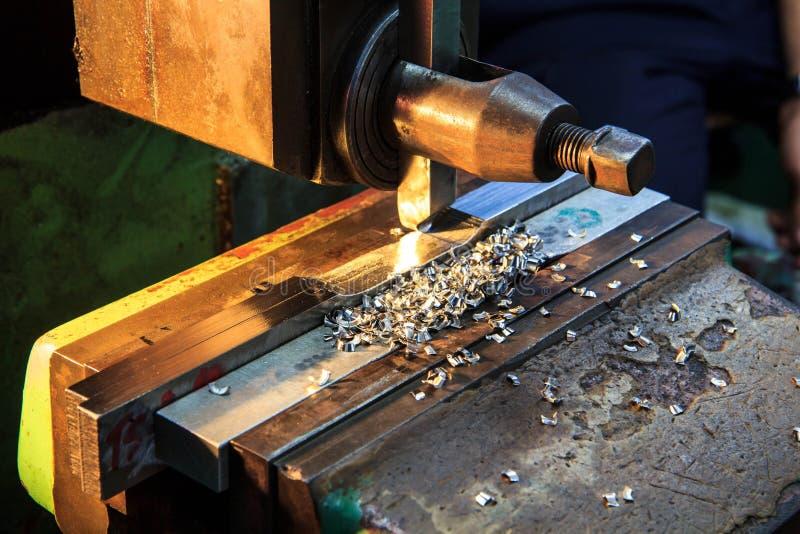 转动金属工业的车床 免版税库存照片