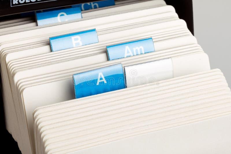 转台式的卡片文件 免版税库存照片