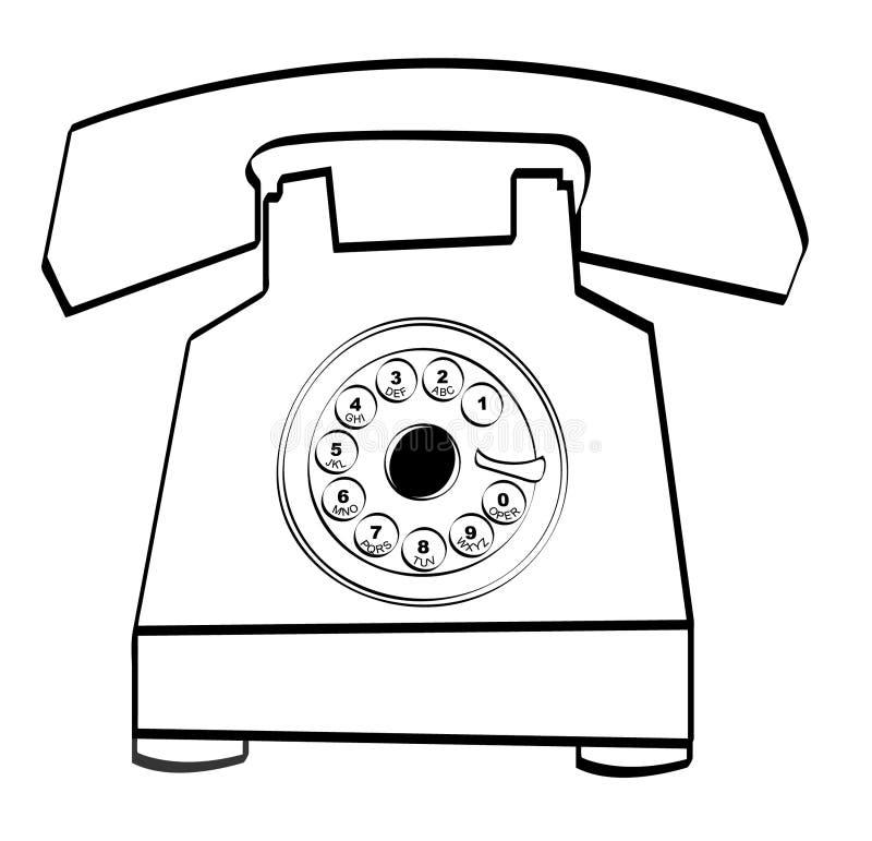 转台式的电话 皇族释放例证