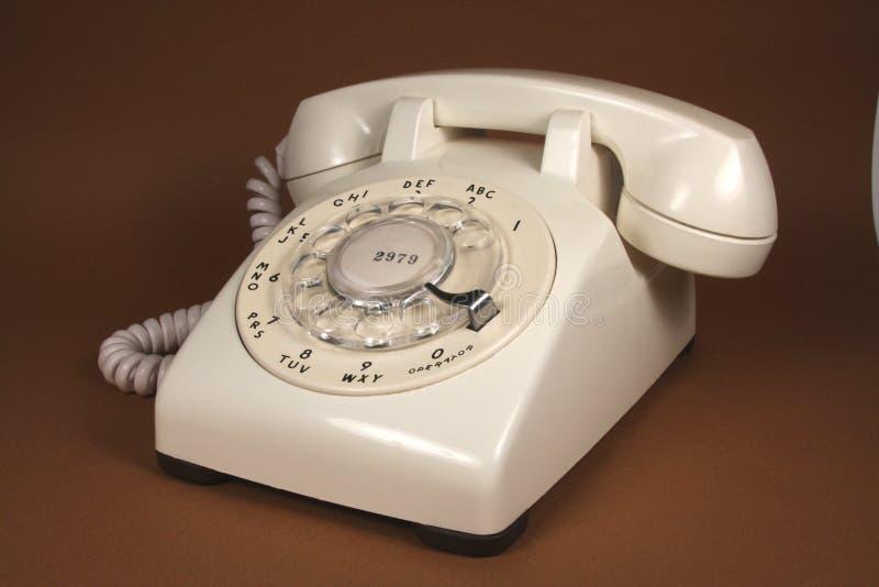 转台式象牙的电话 库存照片