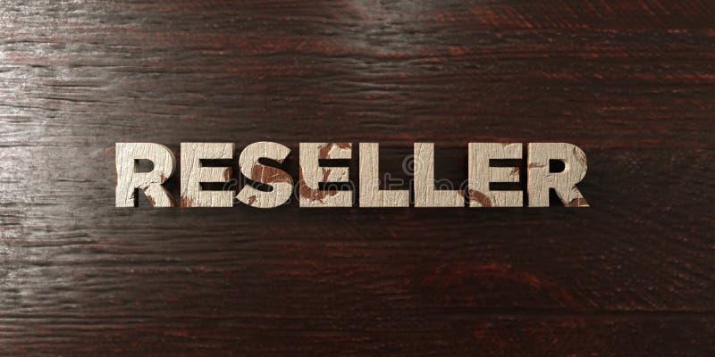 转售者-在槭树的脏的木标题- 3D回报了皇族自由储蓄图象 向量例证