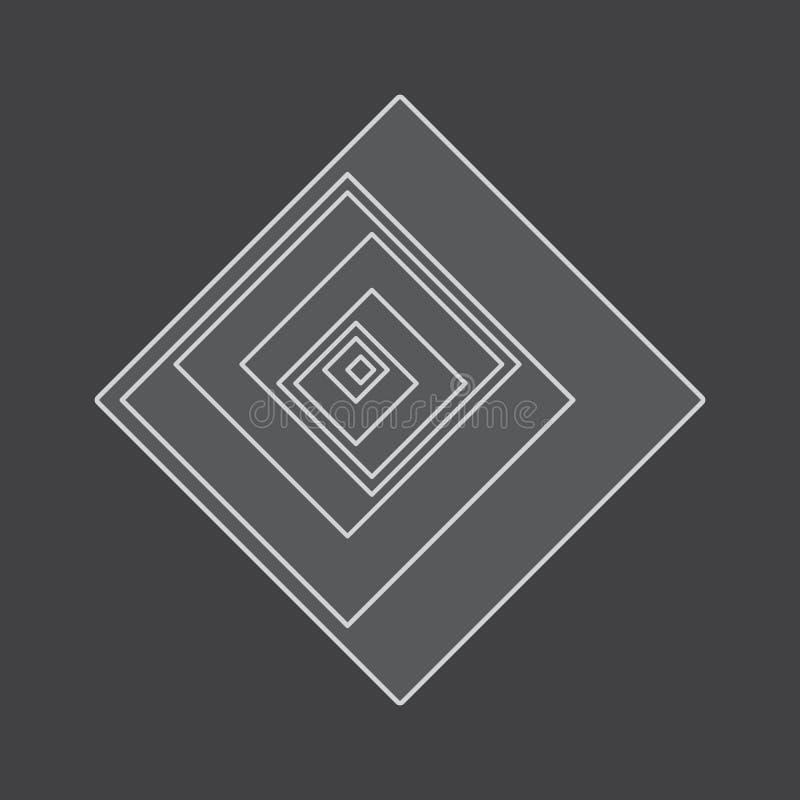 转弯深度线正方形 向量例证