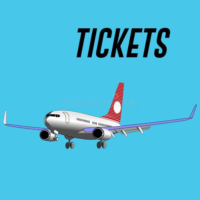 转换型飞机和题字票 皇族释放例证