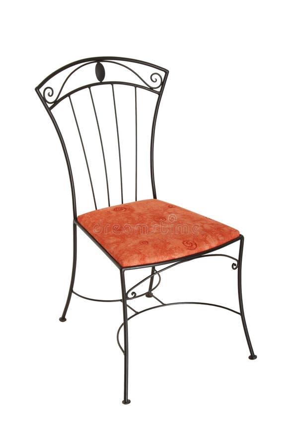 转换椅子典雅的铁查出的白色 库存图片