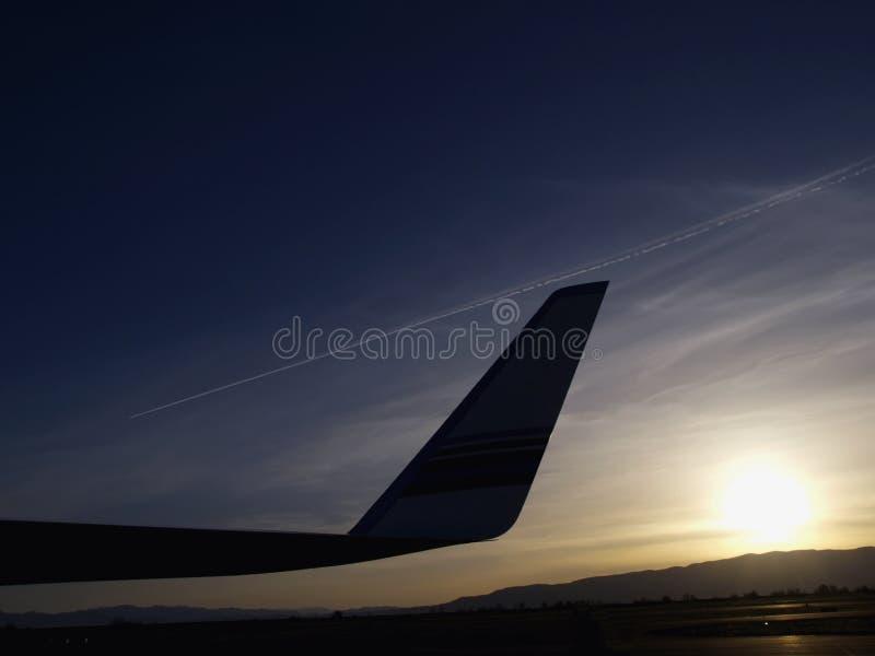 转换轨迹喷气机 免版税库存照片