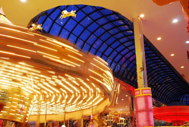 转盘西方埃德蒙顿的购物中心 库存照片