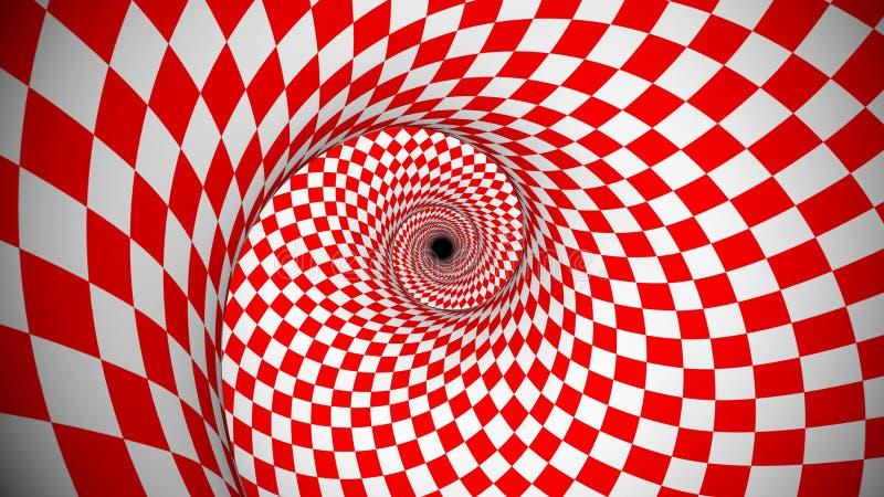 转红和白opt portal正方形 库存图片