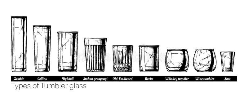 翻转者玻璃类型的例证 库存例证