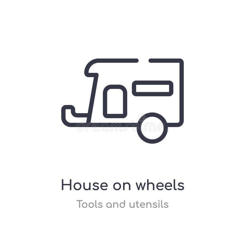 轮子概述象的房子 r 编辑可能的稀薄的冲程房子 皇族释放例证
