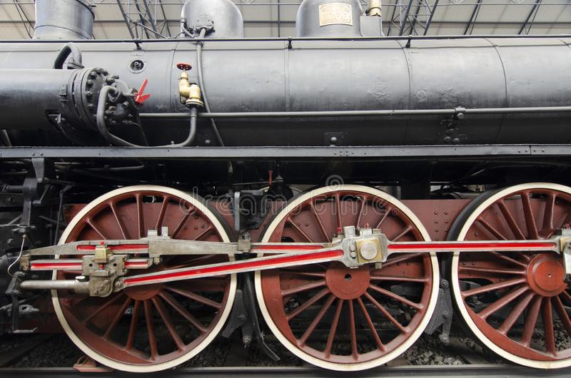 轮子细节机车 库存照片