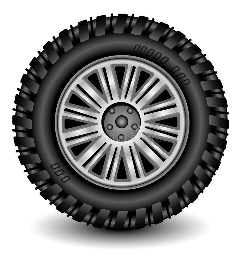 轮子 向量例证