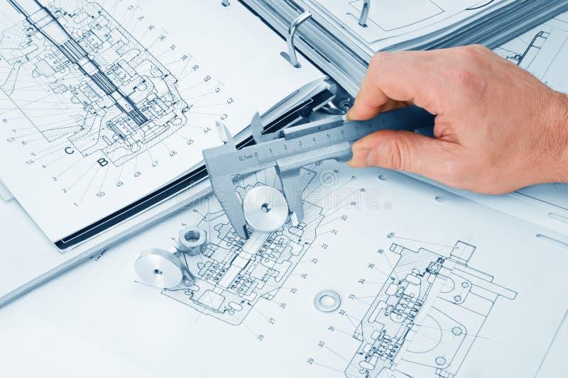 轮尺机械模式 库存图片
