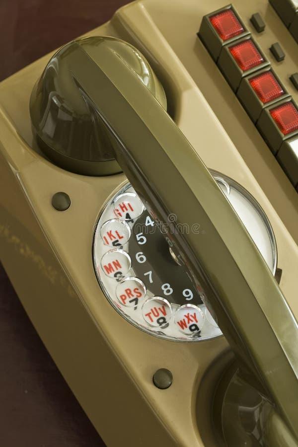 轮循拨号对讲机 图库摄影
