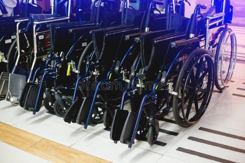 轮椅在医院 免版税库存图片