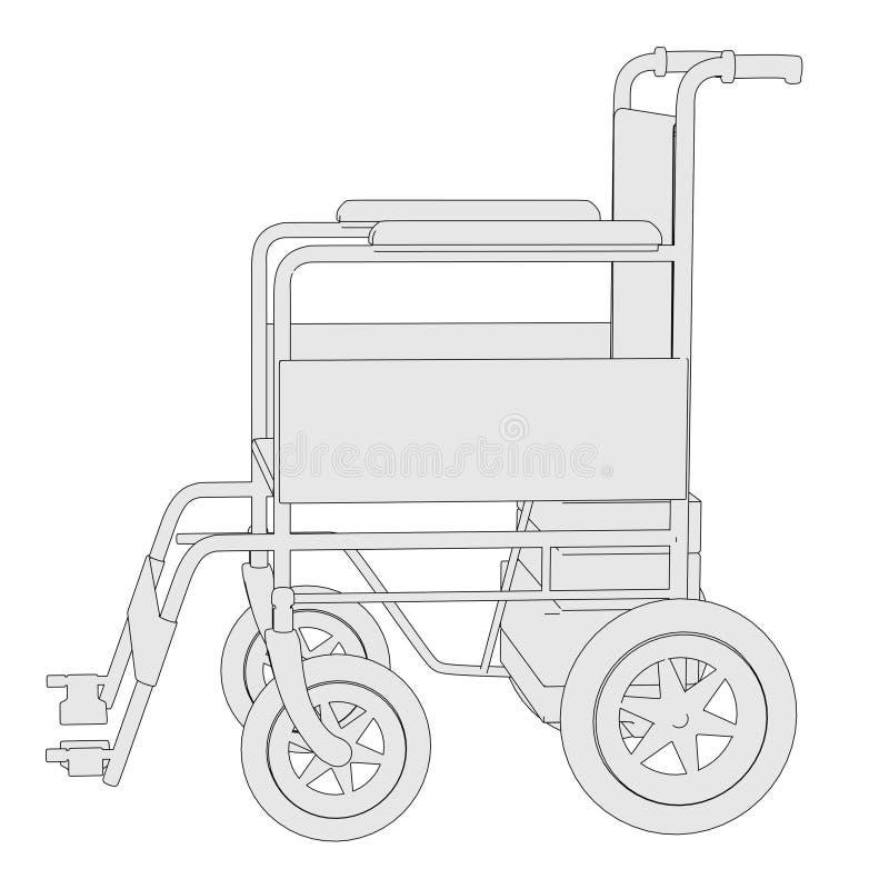 轮椅的图象 皇族释放例证