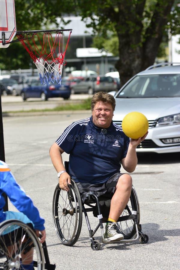 轮椅篮球 库存照片