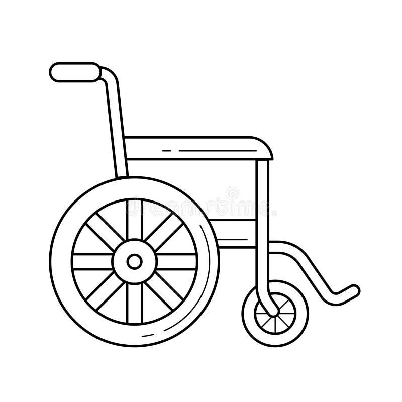 轮椅线象 向量例证