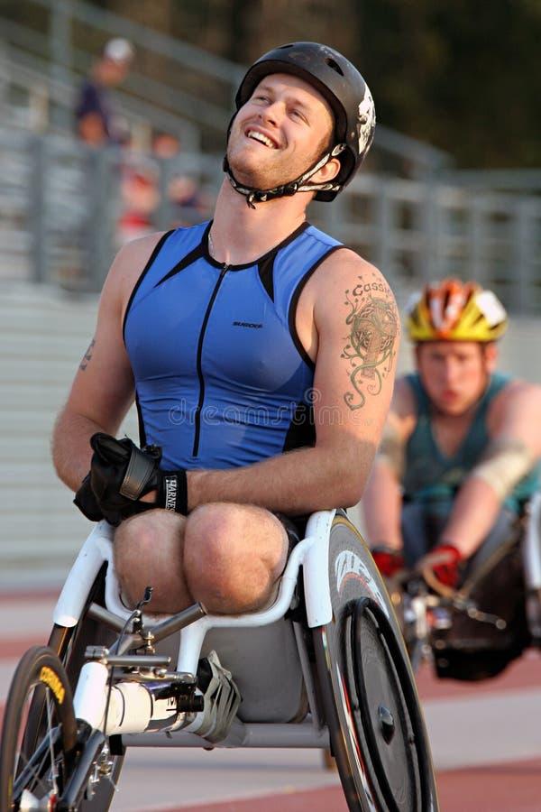 轮椅运动员 免版税库存图片