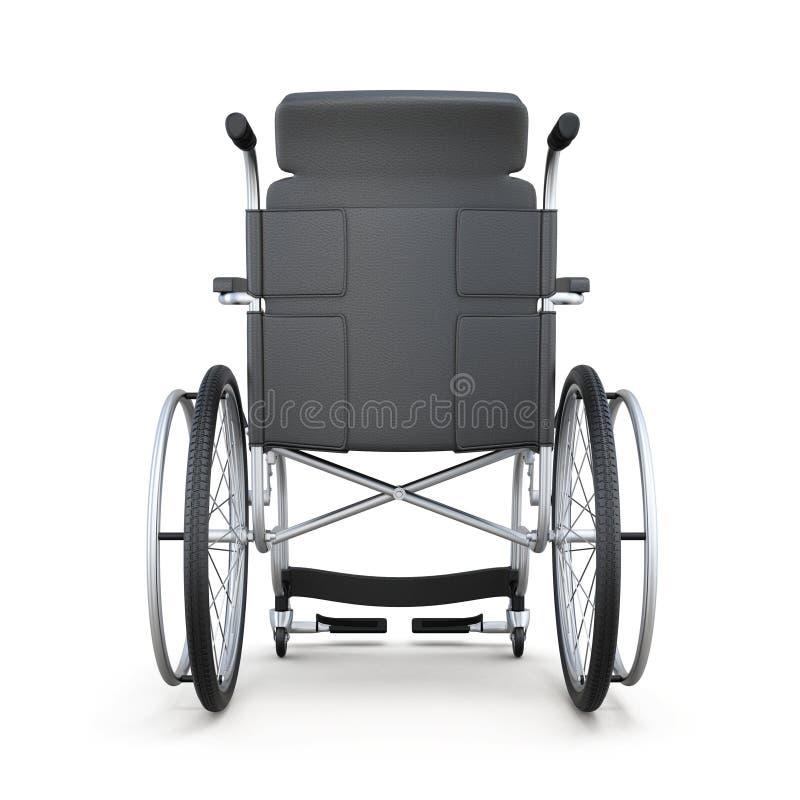 轮椅,背面图,在白色背景 3d回报 皇族释放例证