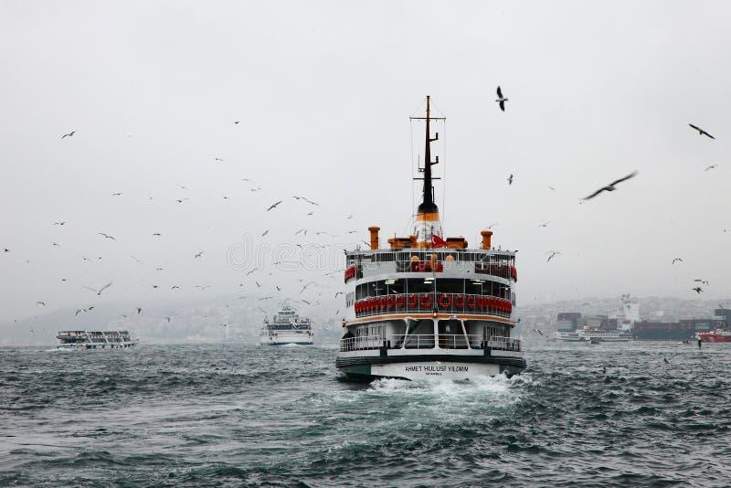 轮渡在Bosphorus 免版税库存图片