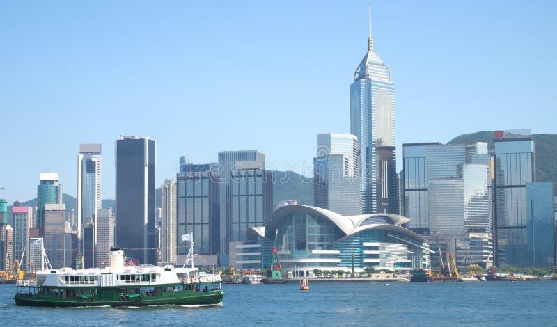 轮渡港口香港星形浏览 免版税库存图片