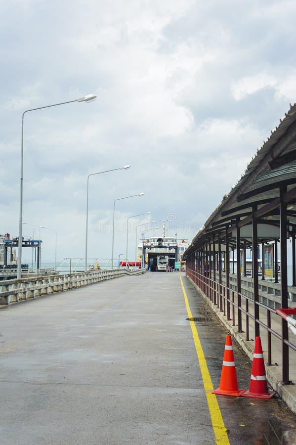 轮渡着陆船坞在泰国 库存照片