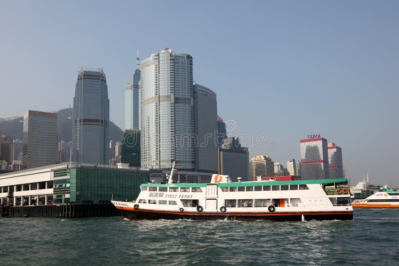 轮渡船在香港 免版税图库摄影